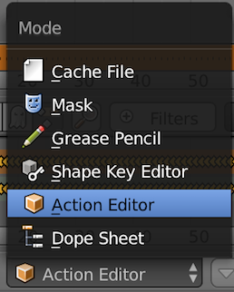 Open action editor
